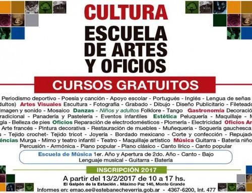Comienza la inscripción a los talleres gratuitos de la Escuela de Artes y Oficios