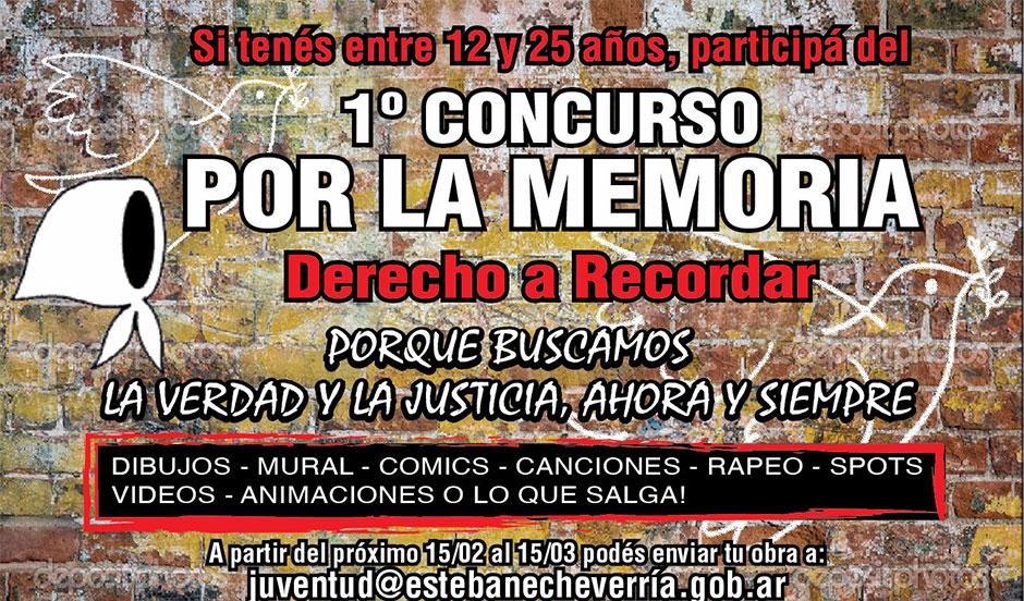 Primer Concurso Por La Memoria para jóvenes de entre 12 y 25 años