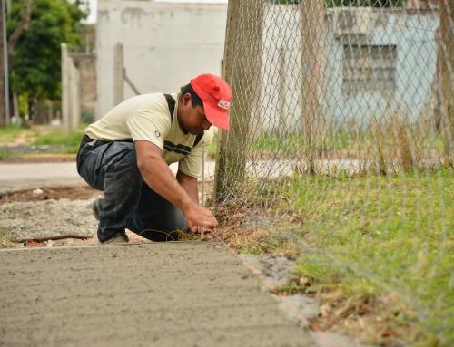 Renuevan veredas en escuela y centro de formación laboral en El Jagüel