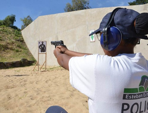 Desarrollan tercera etapa de curso de Tiro Táctico Policial