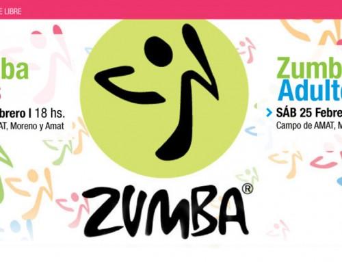 Clases de Zumba gratuitas para toda la familia en  campo de AMAT