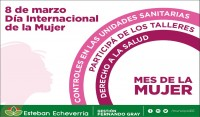 El Municipio de Esteban Echeverría desarrollará diversos talleres referidos al cuidado de la salud en Unidades Sanitarias, en el marco de la celebración por el Día de la Mujer, el próximo miércoles 8 de marzo.