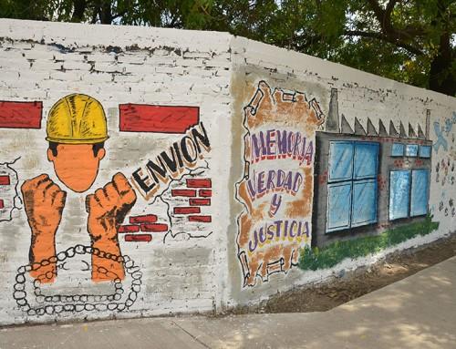 Realizan murales homenaje en la semana de la Memoria, la Verdad y la Justicia
