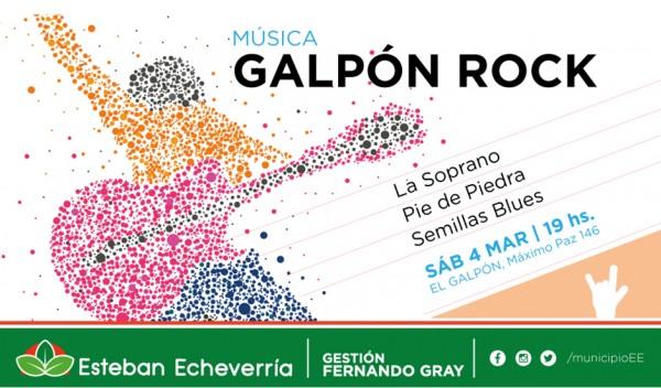 El Municipio de Esteban Echeverría realizará este sábado desde las 19, una jornada musical de Rock, en El Galpón de La Estación, ubicado en Máximo Paz 146, Monte Grande, en donde participarán bandas integradas por artistas locales.