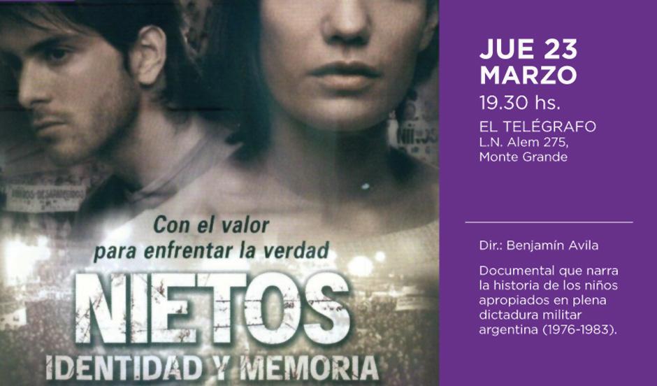 Ciclo de cine gratuito por la semana de la Memoria en El Telégrafo