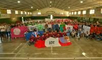 El intendente de Esteban Echeverría, Dr. Fernando Gray, participó hoy del inicio de la segunda edición del Torneo Sudamericano de Futsal, junto a deportistas del equipo local y de otras 18 delegaciones provinciales e internacionales, en el Club Portugués de Canning.