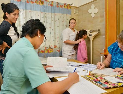 Operativo sanitario para niños en Luis Guillón