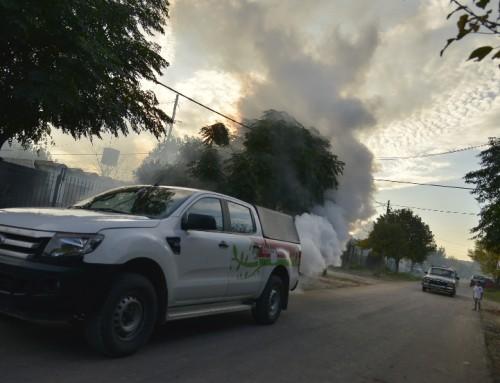 El municipio realiza fumigaciones en distintos puntos del distrito