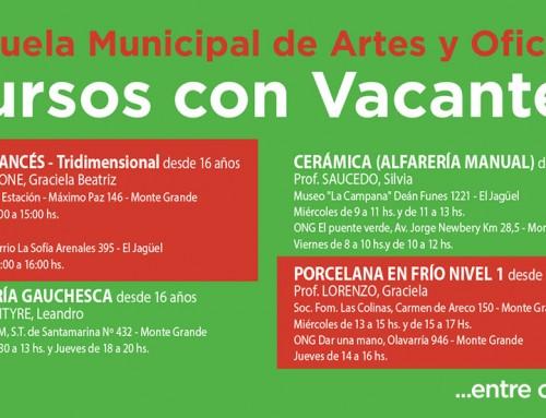 La Escuela Municipal de Artes y Oficios abre la inscripción a los cursos vacantes