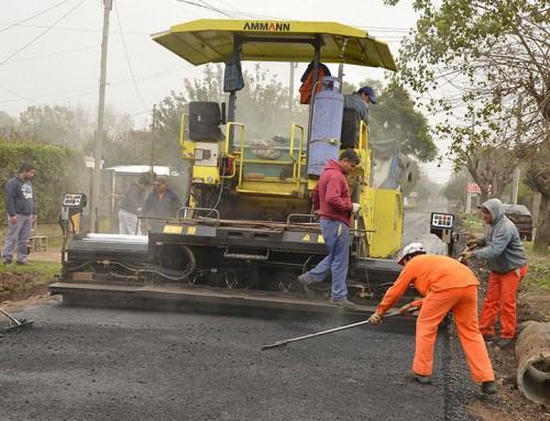 Más de 150 nuevas cuadras de asfalto en todo el distrito