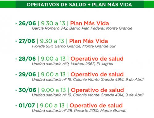 El municipio realiza inscripciones al Plan Más Vida y Operativos de Salud en distintos punto del distrito