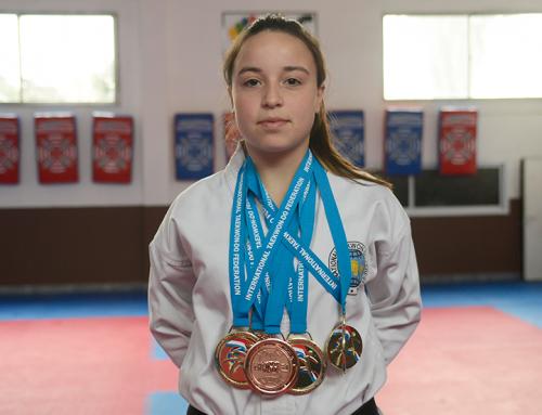 Fernando Gray elogió a la taekwondista Martina Sánchez, representante del distrito en el mundo