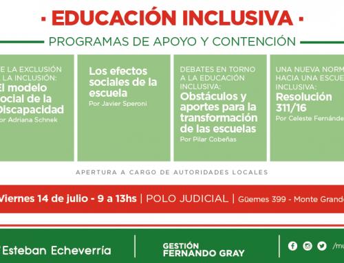 El municipio realizará una jornada de capacitación sobre educación inclusiva