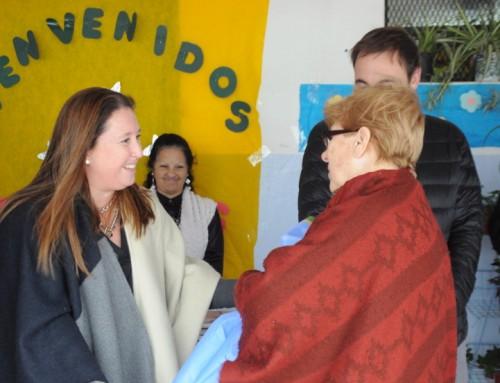 Magui Gray en la inauguración de obras de refacción en la Escuela Nº 23 de Monte Grande