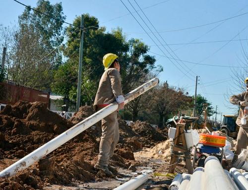 El municipio extiende nueva red cloacal en 9 de Abril