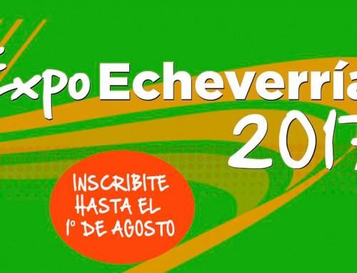 Continúa la inscripción a Expo Echeverría