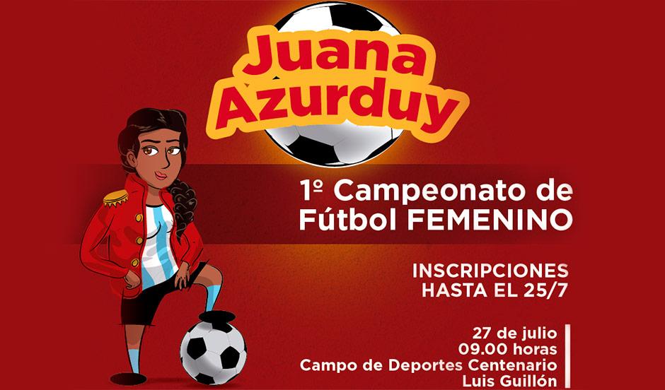 "Continúa la convocatoria al primer campeonato de fútbol femenino ""Juana Azurduy"""