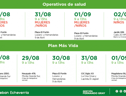 Continúan los operativos de salud e inscripciones al Plan Más Vida en distintos puntos del distrito