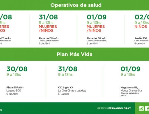 Más operativos de salud e inscripciones al Plan Más Vida en distintos puntos del distrito