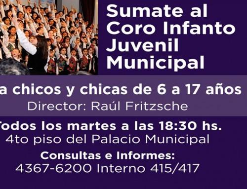 Continúa la inscripción al coro infanto juvenil municipal