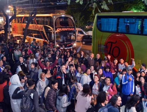 300 jóvenes de escuelas representaron al distrito en Chapadmalal