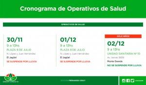 El Municipio de Esteban Echeverría realizará, durante esta semana, controles de salud y vacunación para niños y adultos, de 9 a 13, en El Jagüel y Monte Grande.