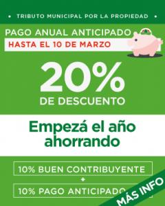 PAGO ANUAL ANTICIPADO - Empezá el año ahorrando: 20% de descuento por pago anticipado + buen contribuyente   rentas.estebanecheverria.gob.ar