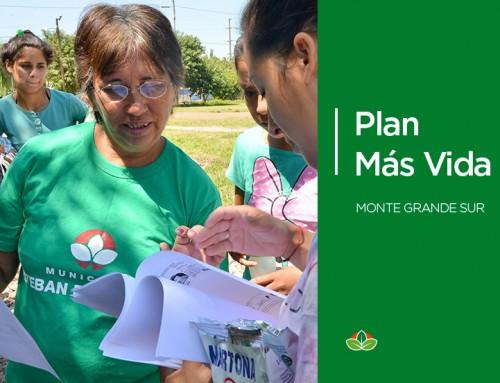 El municipio realizará inscripciones al Plan Más Vida en Monte Grande Sur