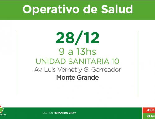 Operativo de salud para niños en Monte Grande