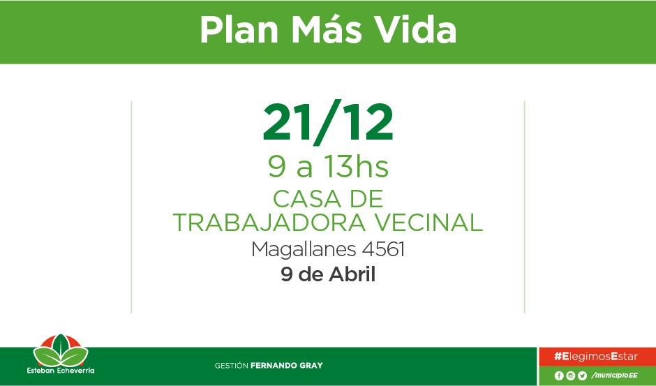 Plan Más Vida - 21 de diciembre