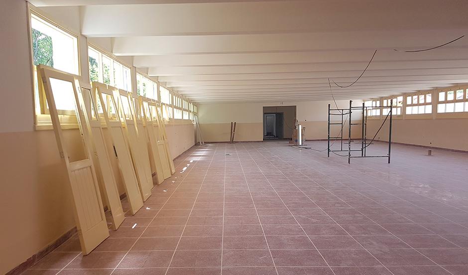 El municipio continúa con la puesta en valor del Hogar Escuela Evita