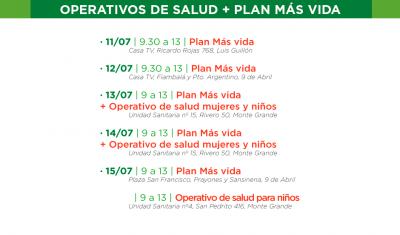 El Municipio de Esteban Echeverría llevará a cabo, esta semana, inscripciones al Plan Más Vida -con entrega de leche en polvo- y controles sanitarios, a mujeres y niños en distintos puntos del distrito.
