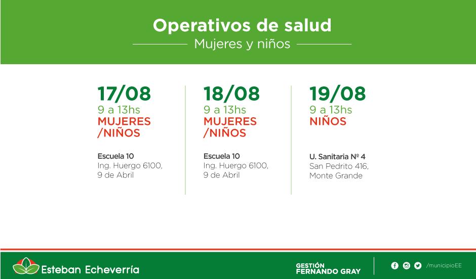 El municipio realiza operativos de salud en distintos puntos del distrito