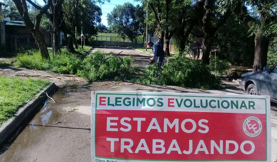 El municipio trabaja en zonas afectadas por vientos y lluvias