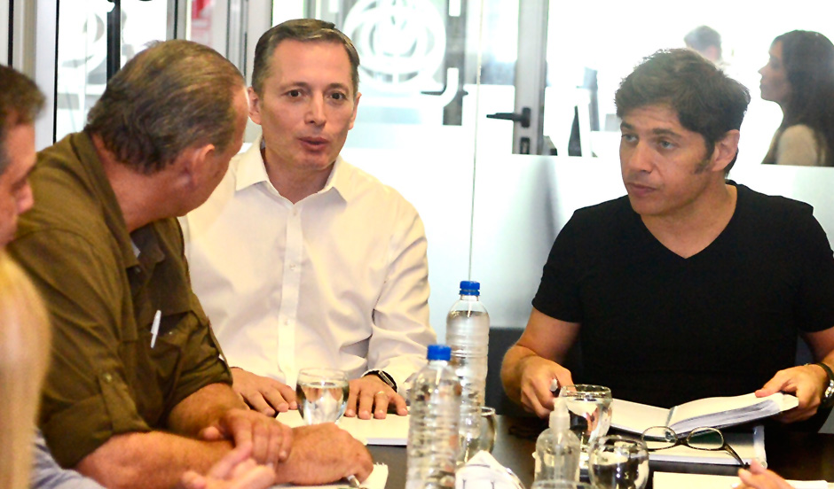 FERNANDO GRAY SE REUNIÓ CON AXEL KICILLOF Y SERGIO BERNI