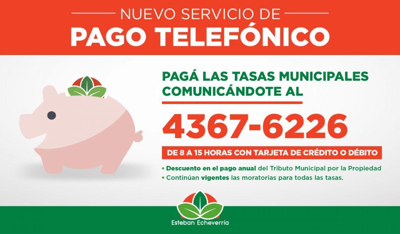 NUEVO SERVICIO TELEFÓNICO Y EXTENSIÓN DEL PLAZO DE PAGO DE TASAS MUNICIPALES