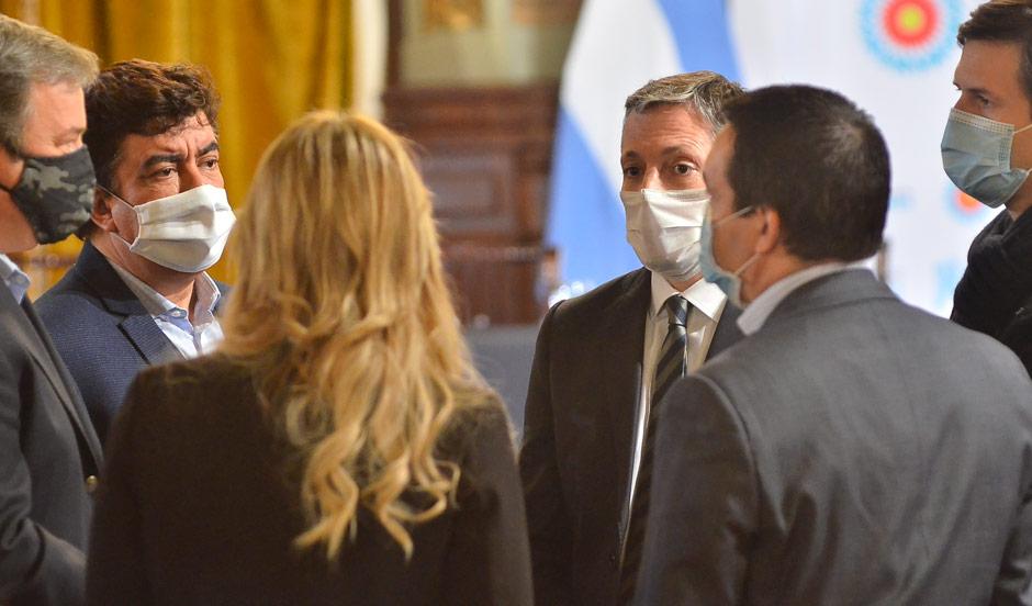 FERNANDO GRAY CON ALBERTO FERNÁNDEZ Y AXEL KICILLOF EN EL LANZAMIENTO DE NUEVO PLAN DE INFRAESTRUCTURA