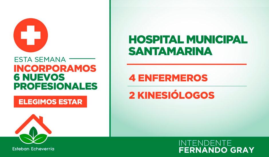 EL MUNICIPIO INCORPORÓ 6 NUEVOS PROFESIONALES DE LA SALUD