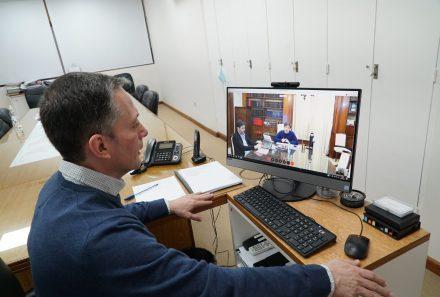 VIDEOCONFERENCIA CON AXEL KICILLOF: FERNANDO GRAY PIDIÓ MÁS CAJEROS AUTOMÁTICOS