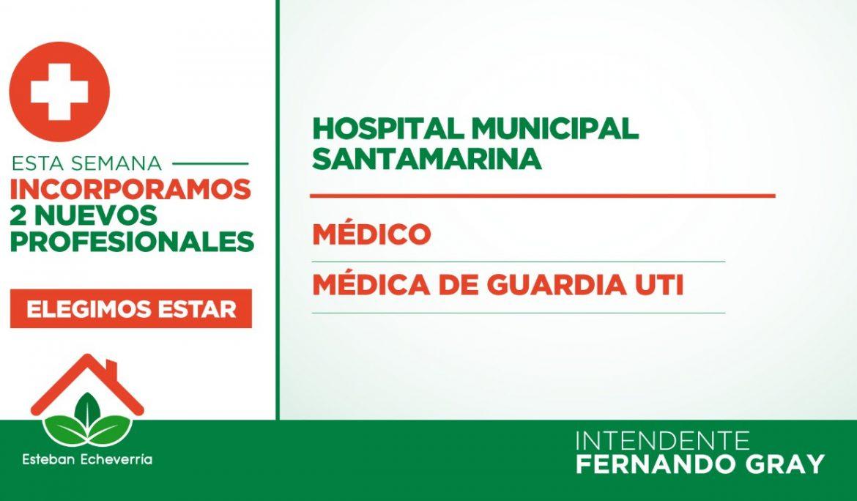 EL MUNICIPIO INCORPORÓ 87 PROFESIONALES DE LA SALUD