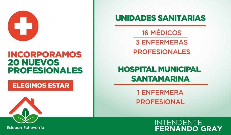 Informe N° 511 | EL MUNICIPIO INCORPORÓ 20 PROFESIONALES DE LA SALUD