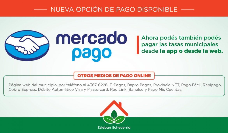NUEVA MODALIDAD DE PAGO DE TASAS CON MERCADO PAGO