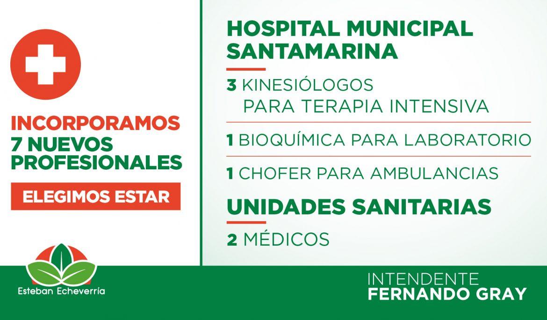 Informe N° 591 | EL MUNICIPIO INCORPORÓ 7 NUEVOS PROFESIONALES DE LA SALUD