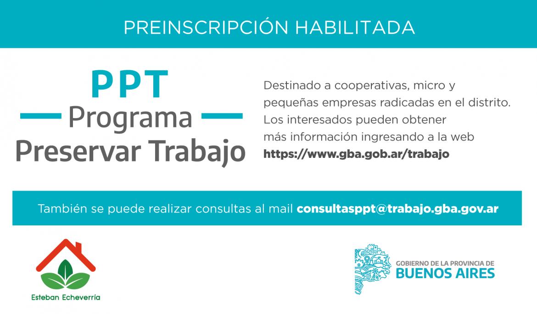 Informe N° 564 | PREINSCRIPCIÓN AL PROGRAMA PRESERVAR TRABAJO (PPT)