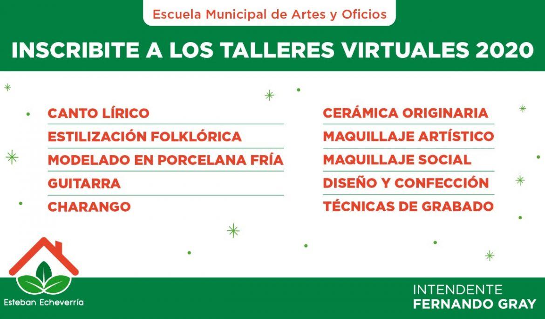 INSCRIPCIÓN A CURSOS VIRTUALES DE LA ESCUELA MUNICIPAL DE ARTES Y OFICIOS