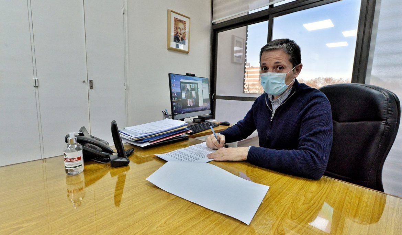 FERNANDO GRAY EN VIDEOCONFERENCIA CON FUNCIONARIAS DEL MINISTERIO DE DESARROLLO SOCIAL DE LA NACIÓN