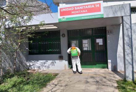OPERATIVOS DE DESINFECCIÓN EN ESTEBAN ECHEVERRÍA