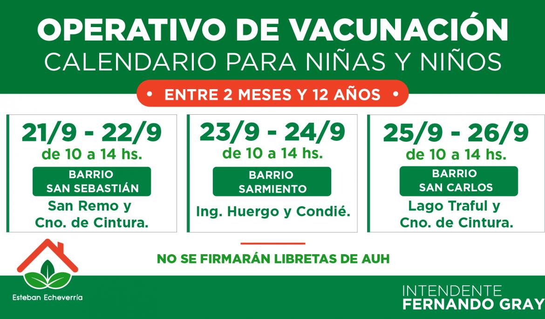 OPERATIVOS TERRITORIALES DE VACUNACIÓN PARA NIÑAS Y NIÑOS