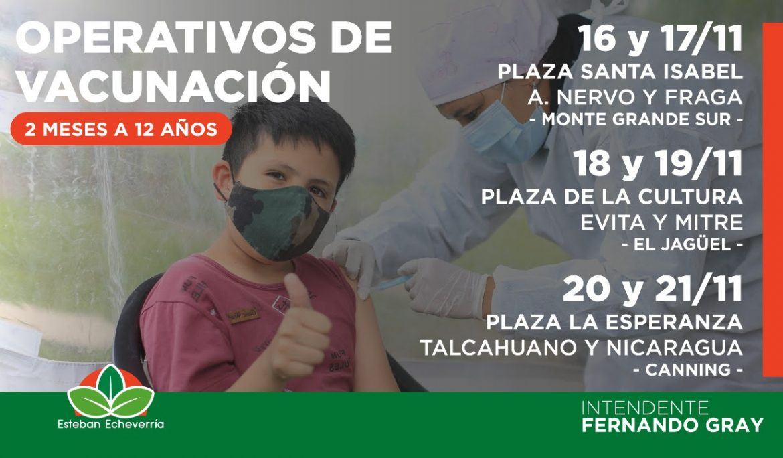 AVANZAN LOS OPERATIVOS DE VACUNACIÓN PARA NIÑAS Y NIÑOS