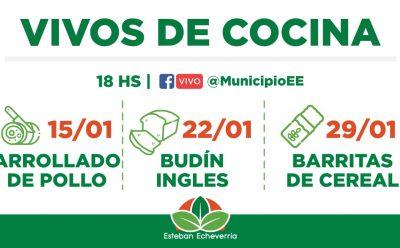 CLASES DE COCINA EN VIVO PARA VECINAS Y VECINOS